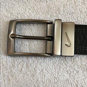 Nike Black Leather Belt - SIze 40